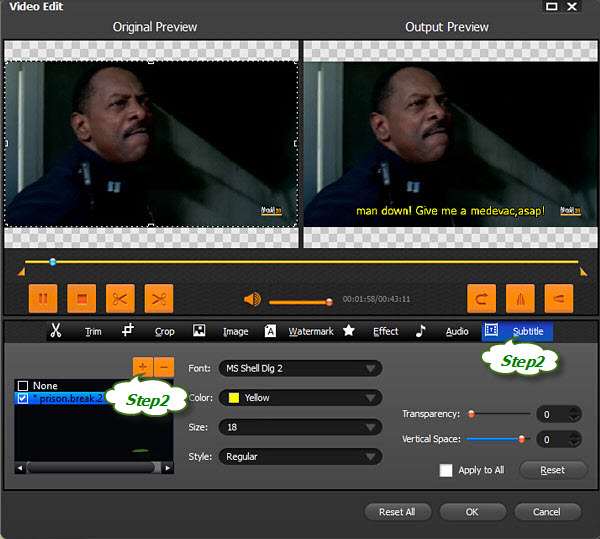 How to add srt subtitles to mp4 with bigasoft total video converter add srt to mp4 ccuart Choice Image