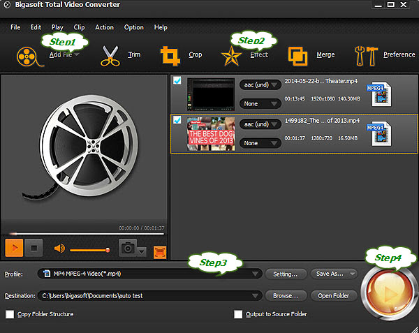 How to add srt subtitles to mp4 with bigasoft total video converter step 2add the srt file to the converter ccuart Choice Image