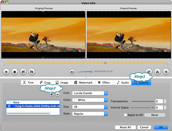 How to add srt to wmv with bigasoft total video converter step 3 add the srt subtitle to wmv video ccuart Choice Image
