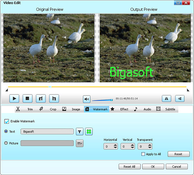 Easy Steps to Add Watermark to Video AVI, FLV, MTS, MKV with Video Watermarker