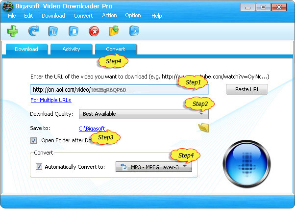 AOL Downloader - Download AOL Videos/Music to Convert AOL Videos