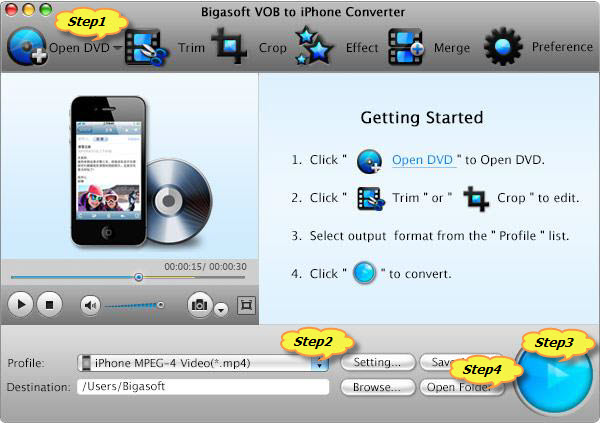 How to Convert, Copy and Play DVD on iPhone 5/4S/4/3GS/3G