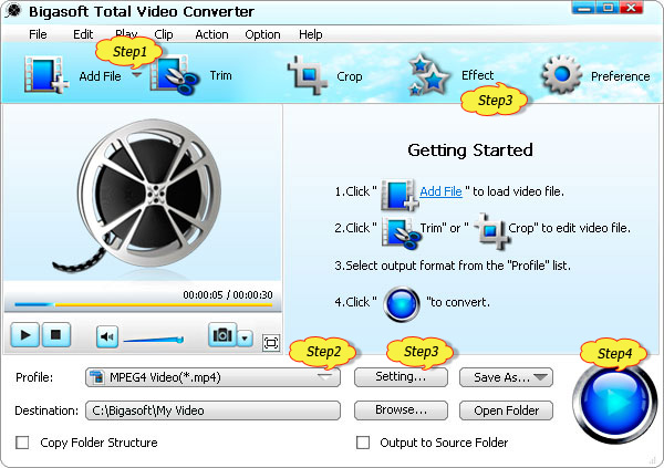 DivX Converter - Convert DivX to MP4, AVI, WMV, MOV, FLV, MPEG, VOB