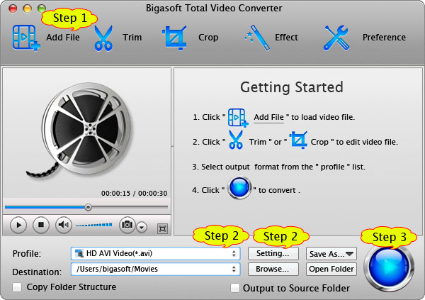 How to Convert 1080p/1080i/720p video in MXF, AVCHD, MVI, MKV, MPEG-2, TS, MTS, VOB or Convert Video to 1080p or Convert 1080i/1080p to 720p