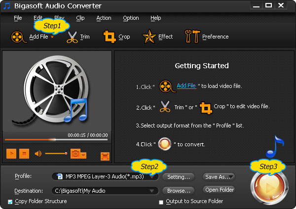 How to Convert 3GA to MP3, WMA, WAV and etc on Mac or Windows