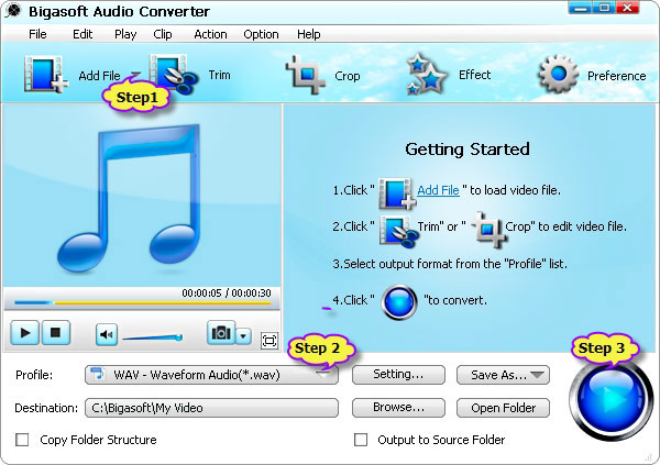 DTS to WAV - Batch Convert DTS to WAV 5.1 with DTS to WAV Converter