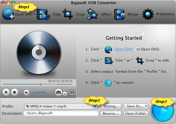 Convert DVD to DV for import to FCP/FCE