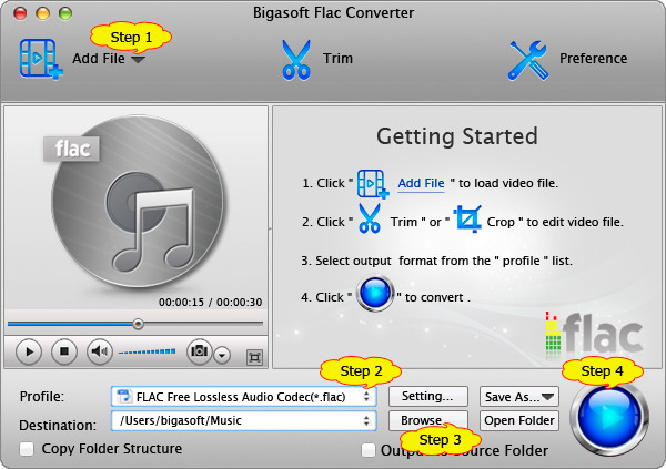 Steps for How to convert FLAC to Apple Lossless, convert FLAC to ALAC