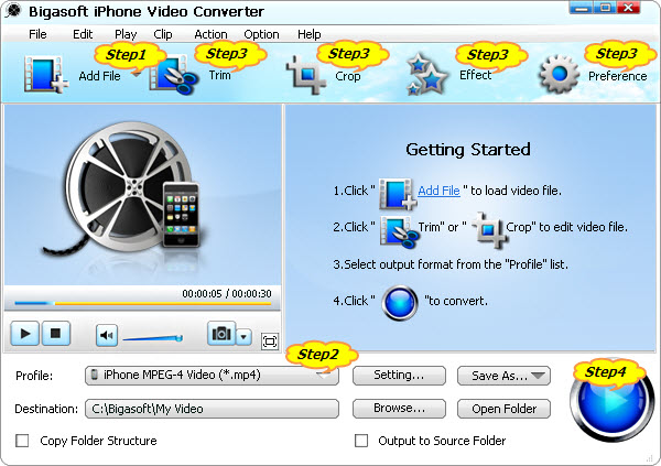How to Convert AVI to iPhone 4S H264/MPEG-4 for Play AVI on iPhone 4S or Play 1080p on iPhone 4S