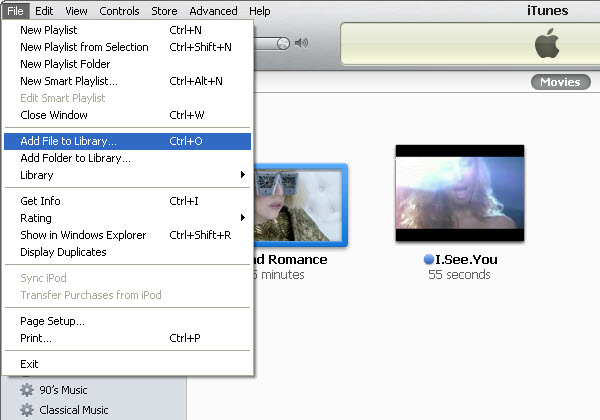How to import AVI to iTunes
