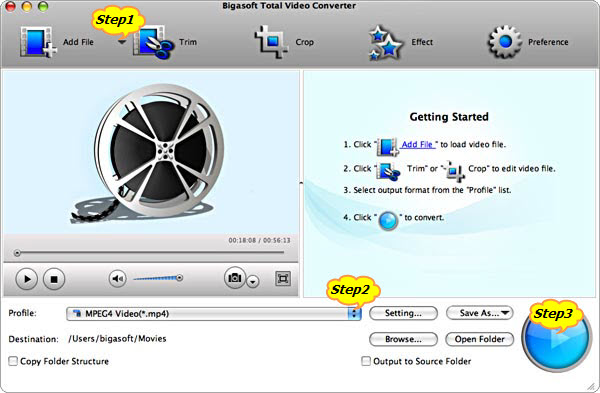 Detailed guide on how to convert MPEG-2 to iDVD supported format