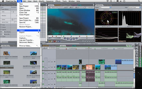 Import video to Final Cut Pro or Final Cut Express