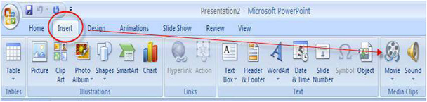 How to embed MP4/MKV/FLV to PowerPoint 2007