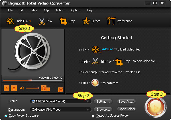 Convert AVI, MPEG, MKV, MP4, FLV, WMV to Wii AVI or MOV for play on Wii