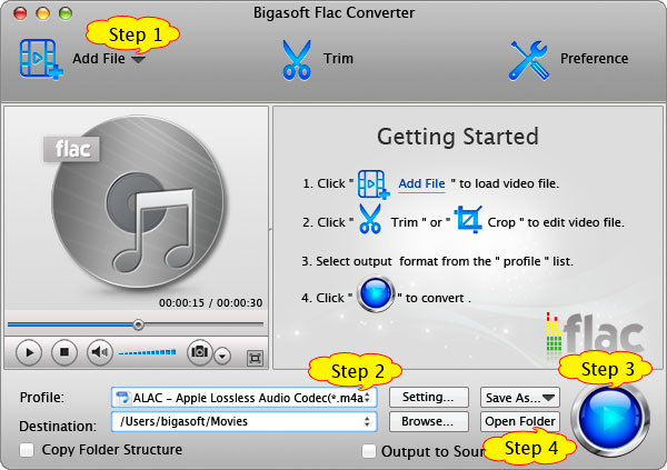 Step by step guide on how to convert FLAC to Play FLAC on iPod