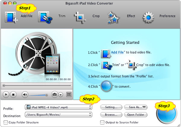 Guide on how to convert MP4 to iPad to play MP4 on iPad mini/iPad 4/iPad 3/iPad/iPad2/iPhone/iPod