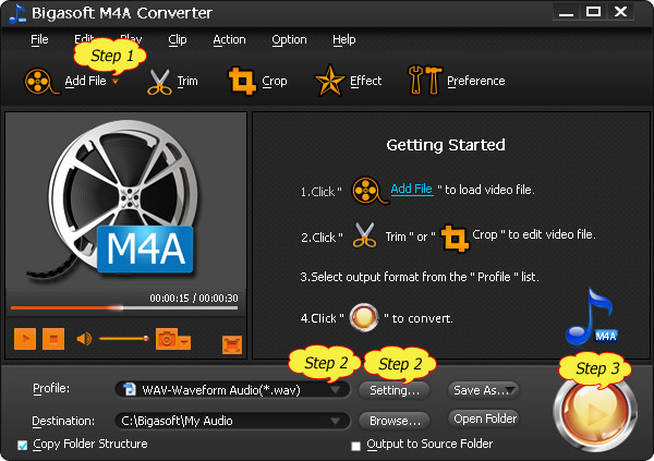 Easy steps for converting M4A to WAV