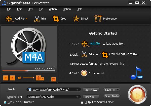 M4A to WAV Converter