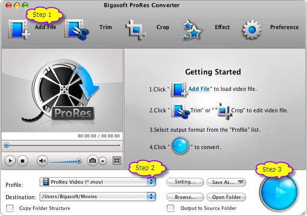 How to Convert MXF to Apple ProRes 4444 and 422