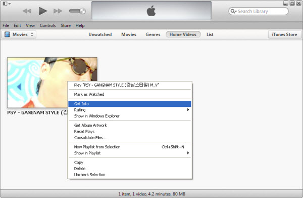 How to solve iTunes 11 imported movies are listed under 'Home Videos' instead of under 'Movies' section