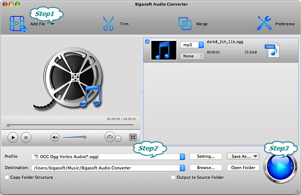 Convert M4A to OGG Easily with Bigasoft Audio Converter