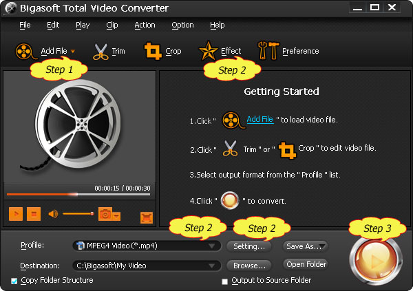 VVF Player - Convert VVF to AVI, MP4, WMV, MPEG, VOB, MP3 for Playing