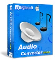 Bigasoft Audio Converter for Mac Software Box