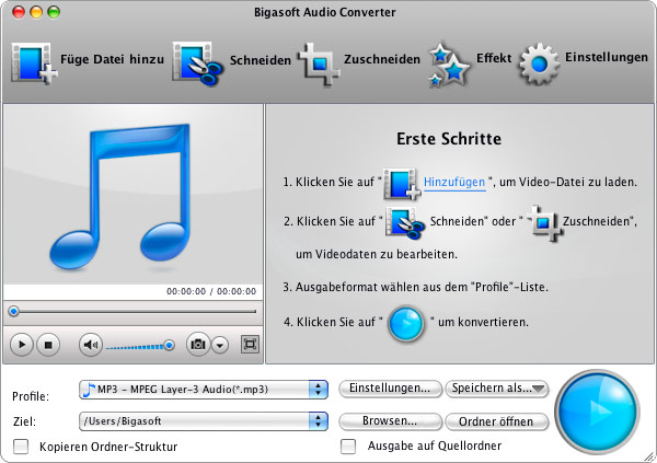 Screenshot von Bigasoft Audio Converter for Mac