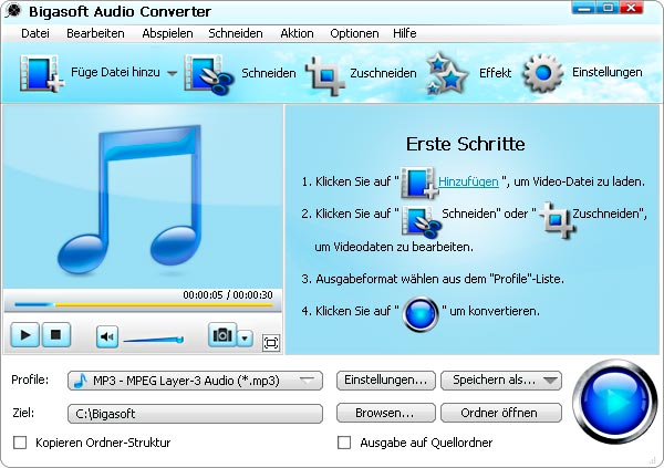 Screenshot von Bigasoft Audio Converter