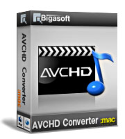 Bigasoft AVCHD Converter for Mac Software Box