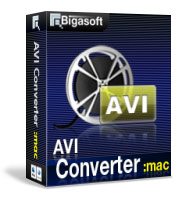 Bigasoft AVI Converter for Mac Software Box