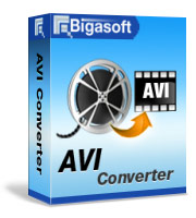 Bigasoft AVI Converter Software Box