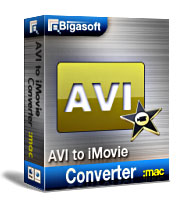 Bigasoft AVI to iMovie Converter for Mac Software Box