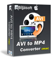 Bigasoft AVI to MP4 Converter for Mac Software Box