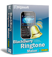 Bigasoft BlackBerry Ringtone Maker for Mac Software Box