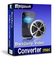 Bigasoft BlackBerry Video Converter for Mac Software Box
