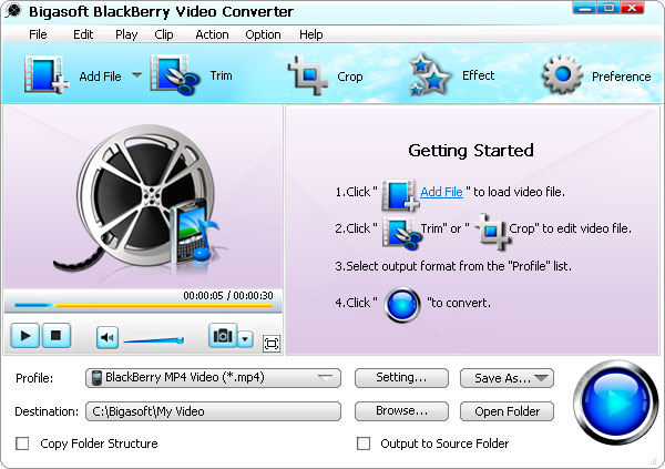 Bigasoft BlackBerry Video Converter 3.7.34.4820 full