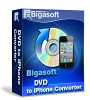 Enjoy DVD movies at finger tips in high Quality on iPhone 5, iPhone 4S, iPhone 4 and iPhone 2G/3G/3GS - Bigasoft DVD to iPhone Converter