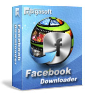 Bigasoft Facebook Downloader Software Box