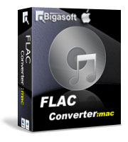Bigasoft FLAC Converter for Mac Software Box