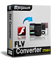 Bigasoft FLV Converter for Mac Software Box