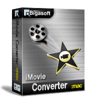 Bigasoft iMovie Converter for Mac Software Box