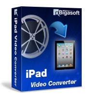Play iPad video in AVI, DivX, MKV, FLV, MPG, WMV, 3GP, VOB,MP4 formats - Bigasoft iPad Video Converter