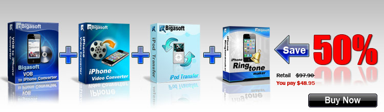 Save Big on Bigasoft iPhone Software Suite
