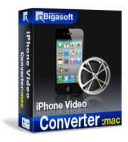 Bigasoft iPhone Video Converter for Mac Software Box