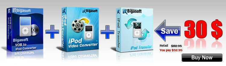 Save Big on Bigasoft iPod Software Pack