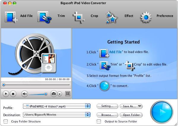 Bigasoft iPod Video Converter for Mac 3.7.37.4832 full