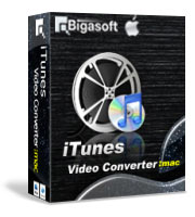 Bigasoft iTunes Video Converter for Mac Software Box