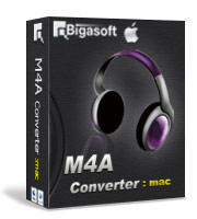 Fast Convert M4A to MP3, WAV, AAC, AIFF and Vice Versa - Bigasoft M4A Converter for Mac