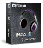 Bigasoft M4A Converter Software Box